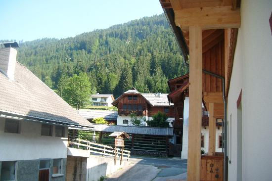 Hotel Gasthof Weissensee: Looking from balcony to bar area across street