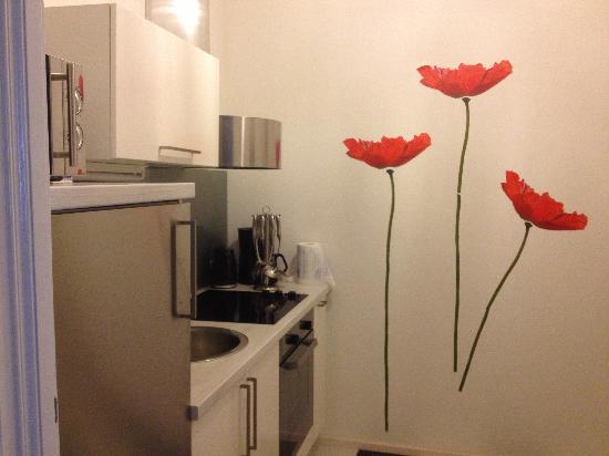 Pension Pharmador: Кухня в апартаментах