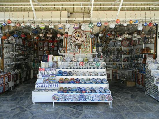 Isa Bey Mosque: Souvenir shop outside