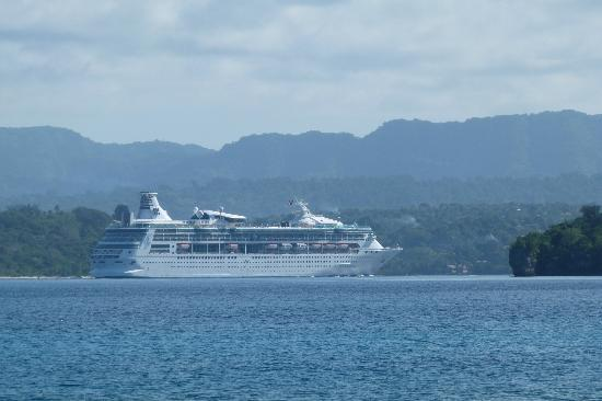 Paradise Cove Resort: Passing cruiseliner