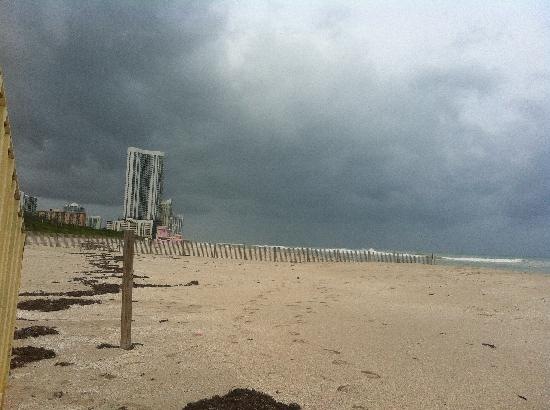 Haulover Beach Park: A VIEW ACROSS HAULOVER AS TROPICAL STORM SANDY PASSES OVER