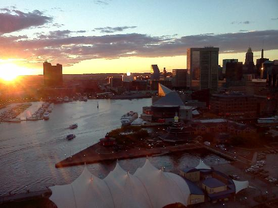 Baltimore Marriott Waterfront: sunset view