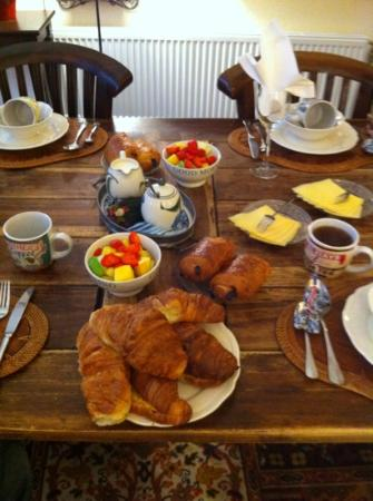 Boogaard's Bed and Breakfast: home made croissants for breakfast
