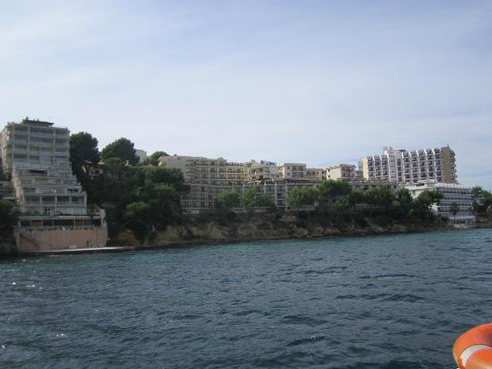Intertur Palmanova Bay: View of the hotel from a boat