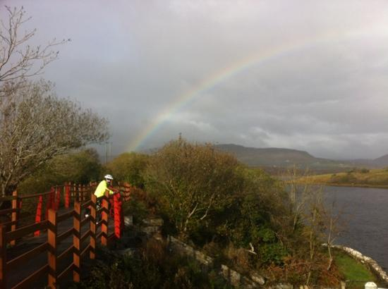The Great Western Greenway: fab rainbow