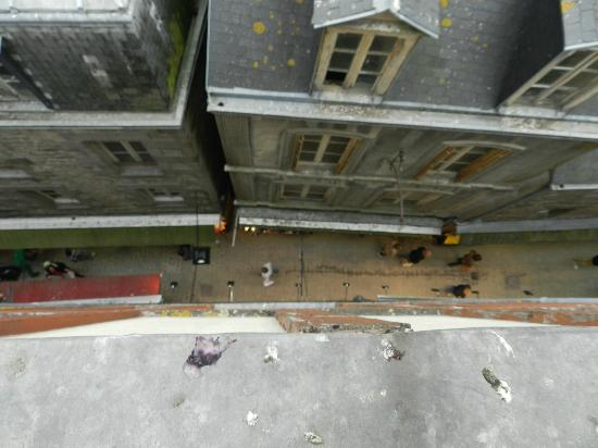 Hotel Croix Blanche: View to the street from our room, #505