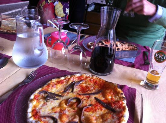Restaurant Italien des Arcades: unlike Zizzi's this has anchovies!