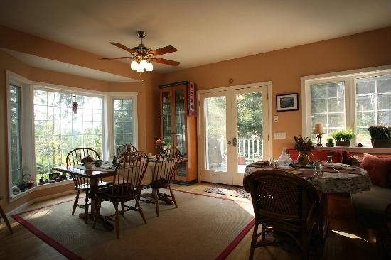Inn to the Woods: Our dining area
