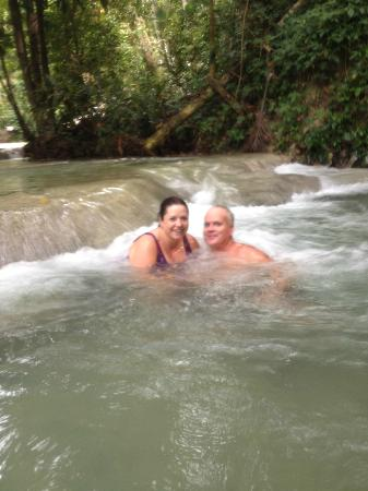 Dunn's River Falls and Park: Taking the plunge