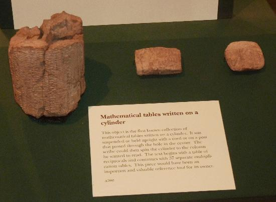 Oriental Institute Museum: Cylindrical Mathematical Tables of Reciprocals & Multiplication, Mesopotamia