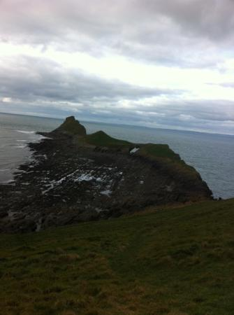 """Fairyhill: The famous """"worm's head"""" on Gower - close to Fairy Hill"""