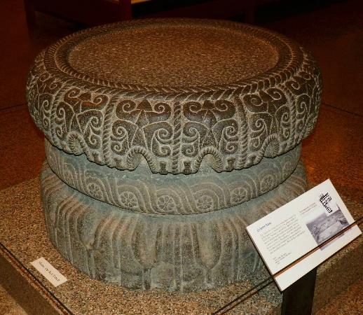 Oriental Institute Museum: Basalt Column Base from Palace at Tell Tayinat, 900-750 BC, Border between Turkey & Syria