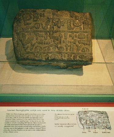 Oriental Institute Museum: Luwian Hieroglyphic Inscription on Basalt, 8th C. BC, Jisr el Hadid, Anatolia