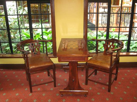 Fairview Hotel: One of the two chess tables