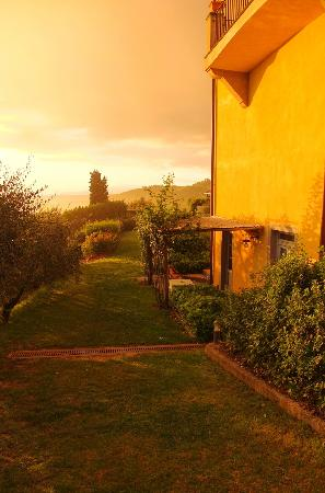 Agriturismo Guardastelle: View of our patio in the morning