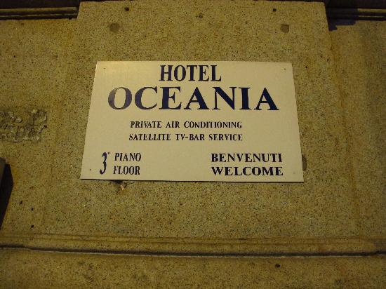 Hotel Oceania: This is all you see from the street - head for the third floor
