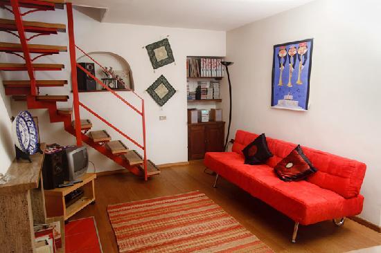 La Casa degli Artisti: Spazio comune e sala colazioni
