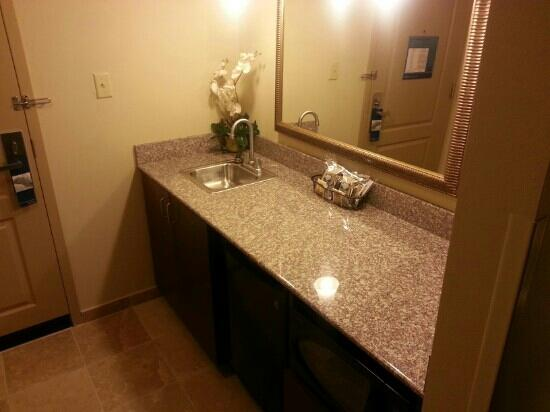 Wet Bar Area In A Suite Picture Of Hampton Inn Suites