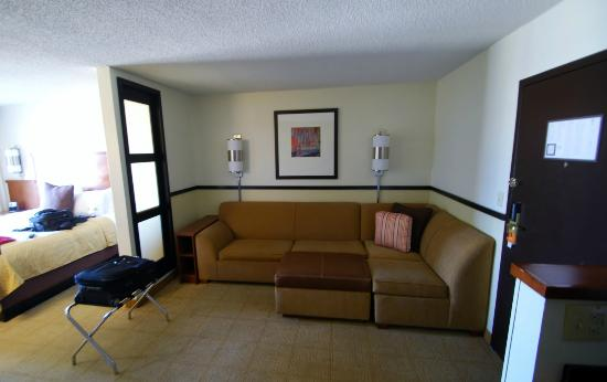 Hyatt Place Duluth/Gwinnett Mall: I like the sofa area it's easy to relax here and work.