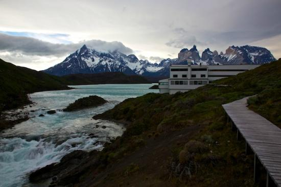 explora Patagonia: View of the Hotel from the Lookout