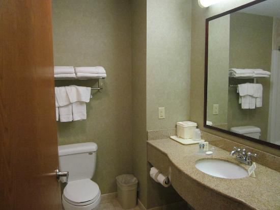 Quality Inn & Suites Fishkill: well maintained bathroom