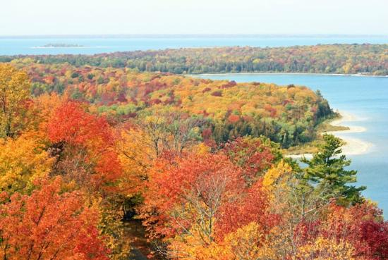 Peninsula State Park: Fall Colors from Eagle Tower