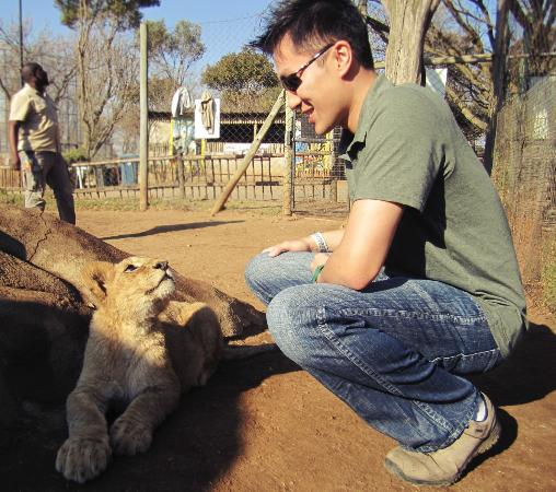 Wildside Tent Camp Lion Park: getting up close with the lion cubs