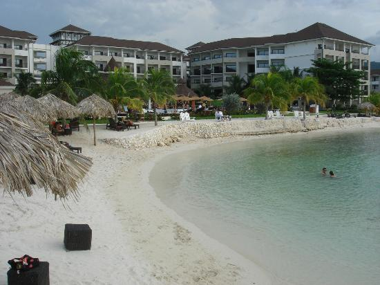 Secrets Wild Orchid Montego Bay: View of beach looking towards resort