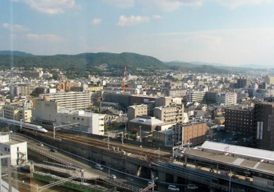 Hotel Granvia Kyoto: Train enthusiasts will enjoy the view