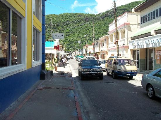 A-Touring Services Private Tours: Streets of Soufriere, near the Pitons.