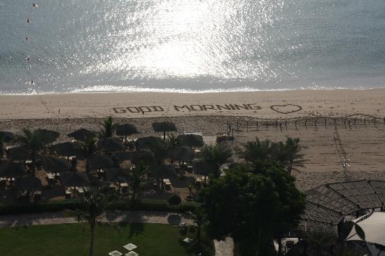Le Meridien Al Aqah Beach Resort: du balcon