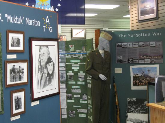 Alaska Veterans Museum: Find out who Muktuk Marston is.
