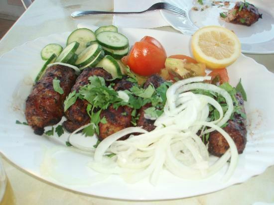 "Niki's Kebab House - Take Away: Traditional Meat-balls ""Sieftalia"""
