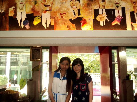 Silom Art Hostel: with the owner if im not wrong :) thanks miss!