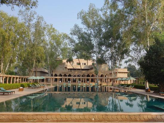 Amanbagh: view from the main pool