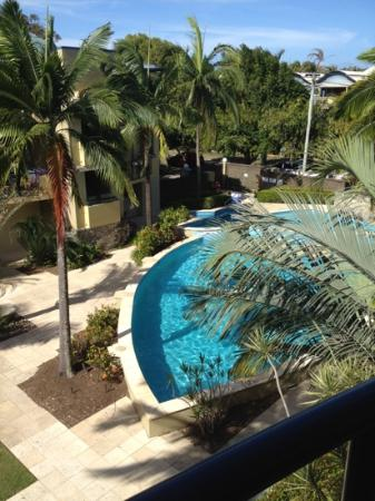 Montpellier Boutique Resort: view from balcony to pool