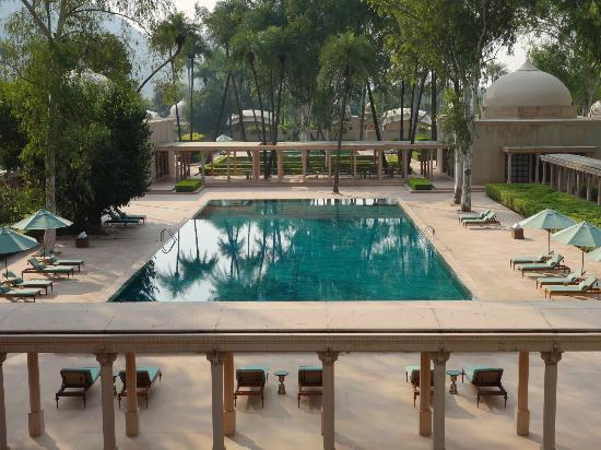 Amanbagh: main pool from the roof