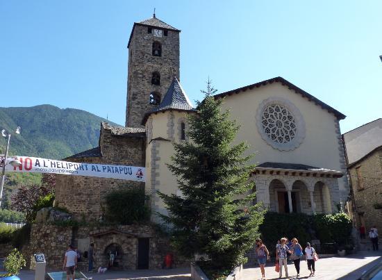 Andorra la Vella, Andorra: chiesa di sant esteve