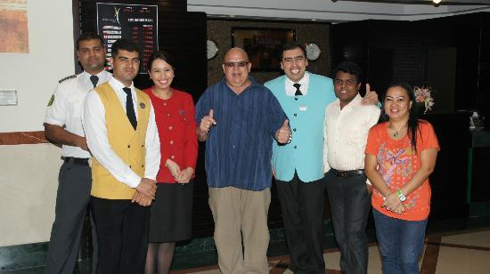 Coral Dubai Deira Hotel: Vielen Dank beim Abschied