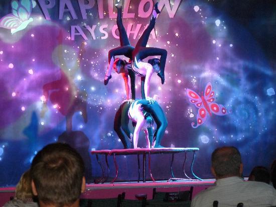 Papillon Ayscha Hotel: Acrobatenshow