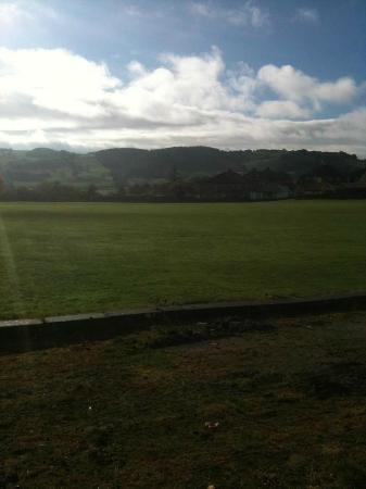 The Farmyard Inn: View across the fields.