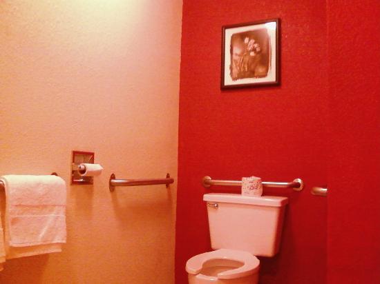 Motel 6 Nashua South: Surprise ... artwork in the bathroom!