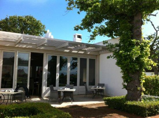 Steenberg Hotel: Breakfast patio