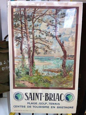 Bertrand Legrix - Antiquites du XXe: Affiche originale Alexandre Nozal Saint Briac