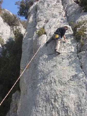 gite l'Escargot : escalade à Quinson