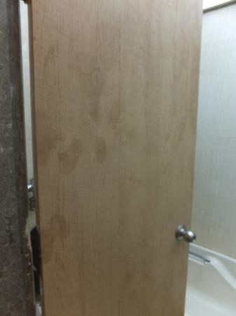 Hotel Suncity Apollo, Mumbai: Dirty door of the bathroom
