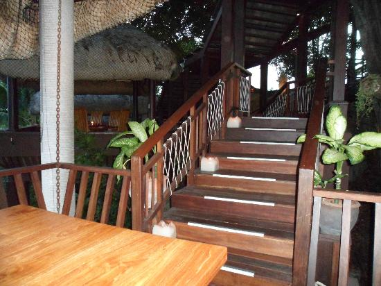 Tree Tops: The walkway to our dining platform