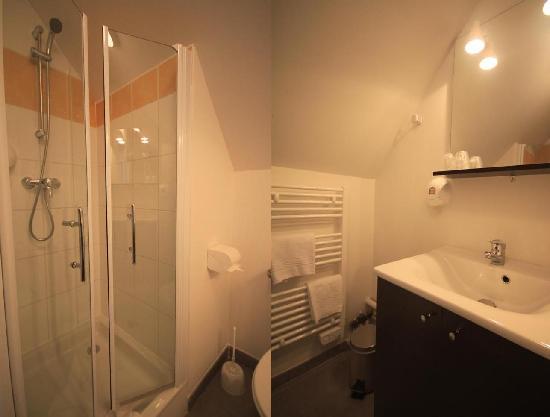Chateau De Beaussais: Salle de bains (douche)