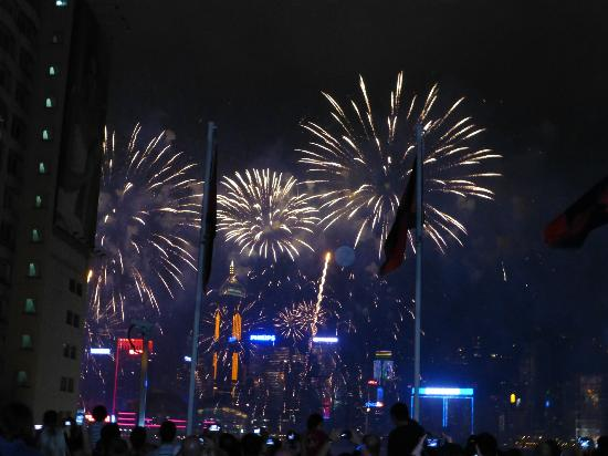 Marco Polo Hongkong Hotel : China day fire work's display