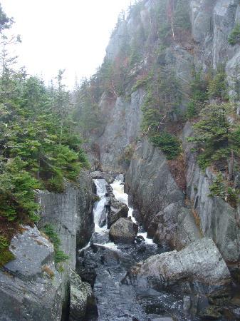 East Coast Trail: waterfall near the bay
